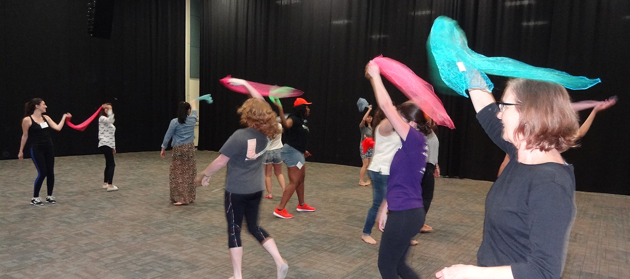 Future educators incorporate dance into their lesson